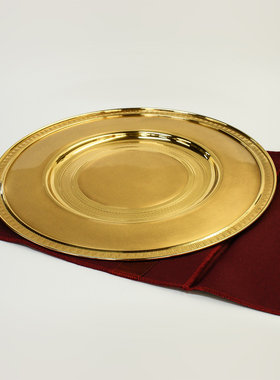 PLATEAU FOR SERVING WITH GOLD COATING